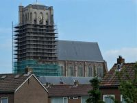 Series: walk around the old defense works (town wall) of Brielle.  The St. Catharijnen church with tower in Brielle