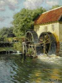 """Peder Mørk Mønsted,  """"Old Mill"""""""