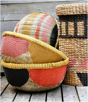 Hand Painted Baskets