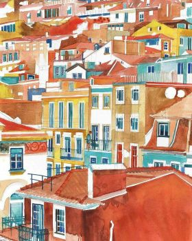 painting of Lisbon, Portugal