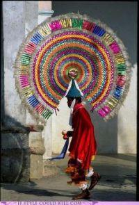 Talk about a color mohawk hat!
