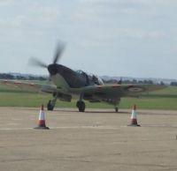 2 seater spirfire at Duxford