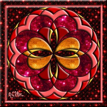 FOR MIMI... A Mandala in Shades of Red....