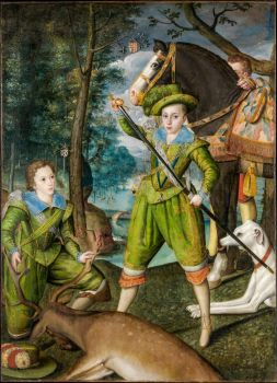 Henry Frederick, Prince of Wales, with Sir John Harington, in the Hunting Field.