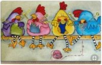 knitting chickens