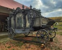 ANTIQUE GERMAN HORSE DRAWN HEARSE FROM THE 1800'S