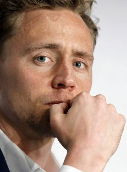Tom Hiddleston, being all thoughtful and pouty
