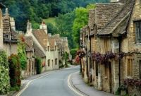 Castle Combe in Wiltshire United Kingdom