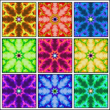 snowflakes with color - medium