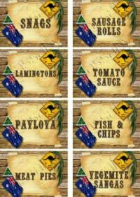 AUSTRALIA DAY Foods - 26th January