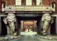 Elephant Gate in Carlsberg, Denmark