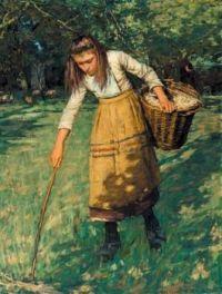 Henry Herbert La Thangue, (1859-1929) - 1893 Gathering Wool…