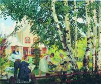 Boris Kustodiev_At home,  circa1918