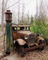 Ford Model A and Gas Pump