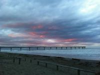 Sunset at Brighton Beach, Christchurch, NZ