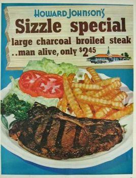1964 Howard Johnsons Restaurant $2.45 Special