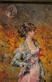 Lady with a Guitar by Giovanni Boldini  at Walter's Art Museum, Baltimore