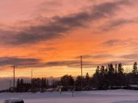 Sunset leaving work