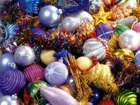 Christmas Ornaments - Glitter