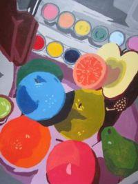 Audrey Flack_fruit painting