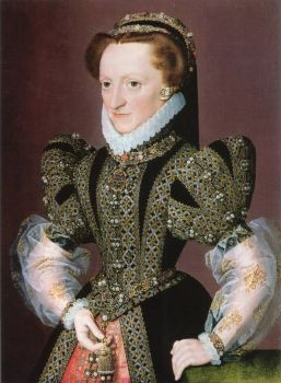 1568-1572 Christine of Denmark, Dowager-Duchess of Milan and Lorraine by The Monogrammist of G. E. C.