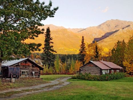 Log Cabin At Brooks Range, Alaska