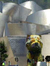 Jeff Koons' Puppy outside the Guggenheim Museum Bilbao