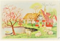 Themes Vintage illustrations/pictures - Italian Easter Card
