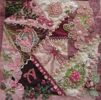 Detail of Crazy Quilt