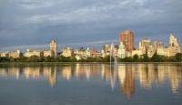 Manhattan Skyline, Overlooking from Central Park Reservoir, NYC