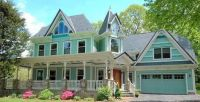 Lovely pastel colored Victorian Home
