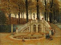 August Plinke - Children Playing in Autumn.