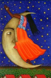 Mexican Folk Art - La Luna