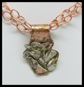 Copper and Sterling Pendant