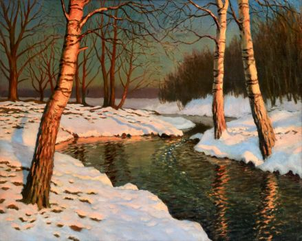 Mikhail Guermacheff Winter Sunset