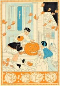 "Themes Vintage illustrations/pictures - ""Jack-O'-Lantern"" II"