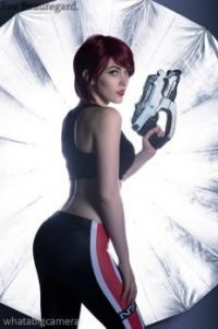 Eve Beauregard as Commander Shepard