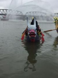 Dragon boat and fireboat 2