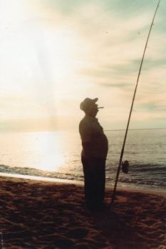 Dad Fishing Salt Water
