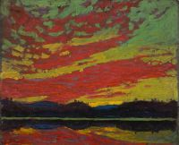 Sunset, Tom Thomson, 1915