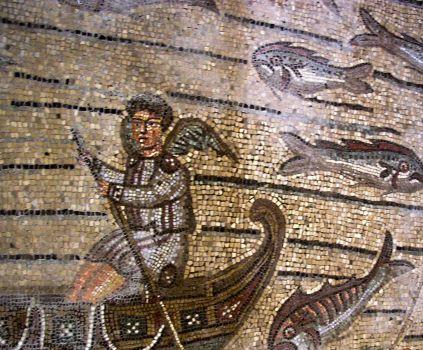 Basilica di Aquileia, Italy - Detail of the mosaics
