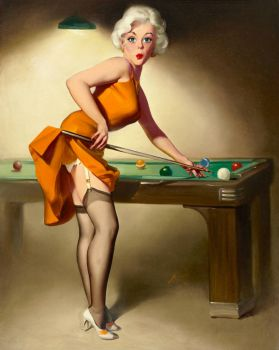 50's Pin-Up Illustration