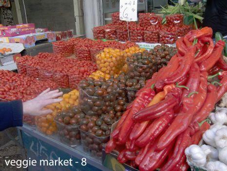 Fresh veggie market in Tel Aviv, Dec, 2016