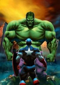 CAP AND HULK