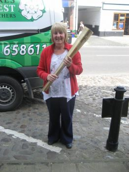 Thirsk N.Yorkshire Got to hold the Olympic Torch