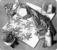 M.C. Escher ~ Reptiles