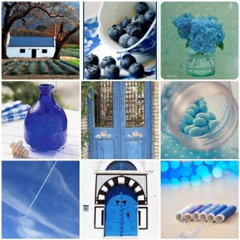 Blue Mosaic Monday by DebbieAllan on flickr