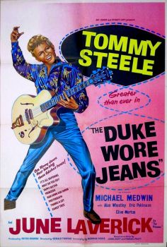 THE DUKE WORE JEANS - 1958 MOVIE POSTER - TOMMY STEELE