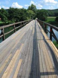 Wooden bridges of Krka III. - Old and new together