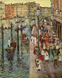 """Maurice Prendergast, """"The Grand Canal Venice"""""""